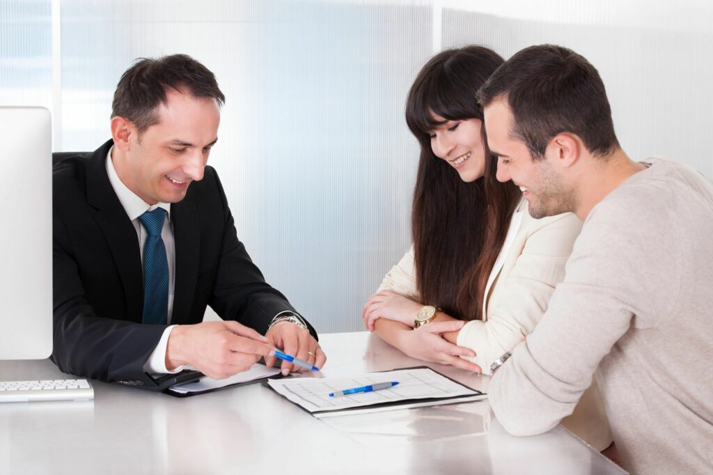 An agent with two clients